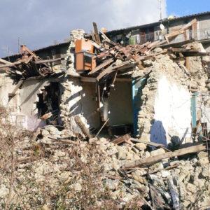 Accumoli dopo il terremoto